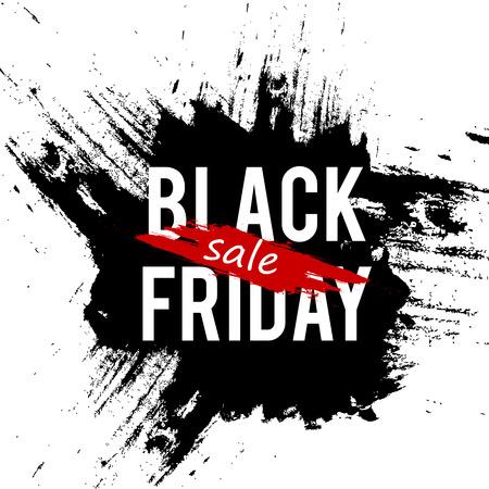 Black Friday sale banner template design.