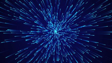 Abstracte cirkelvormige snelheidsachtergrond. Starburst dynamisch lijnenpatroon. Abstracte gegevensstroom achtergrond.