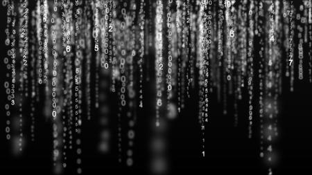 Digital matrix background. Binary computer code. Hacker concept