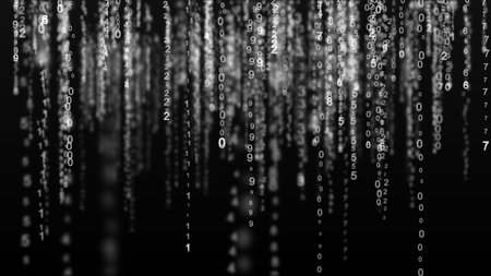 Digital matrix background. Binary computer code. Hacker concept
