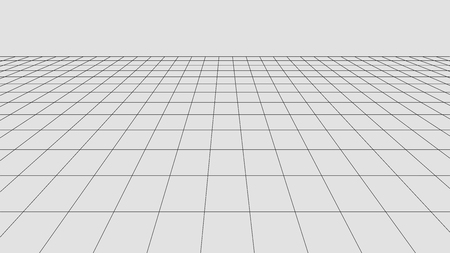Perspective grid background. Abstract vector wireframe landscape. Abstract mesh background. Ilustración de vector