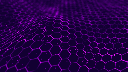 Big data visualization. Futuristic hexagon background. Big data connection background. 3D rendering. Imagens