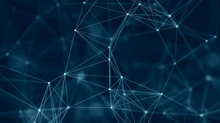 Structure de connexion réseau. Abstrait numérique. Fond numérique de données volumineuses. rendu 3D. Banque d'images