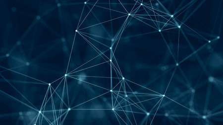 Struktur der Netzwerkverbindung. Abstrakter digitaler Hintergrund. Digitaler Hintergrund für große Datenmengen. 3D-Rendering. Standard-Bild
