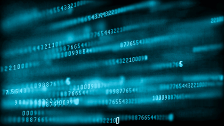 Digital background matrix. Binary computer code. Hacker concept Imagens