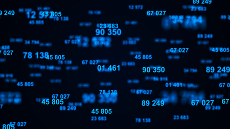 Digital background. Information code. Binary computer code. 3d rendering