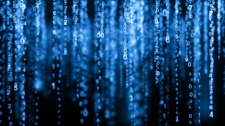 Digital background matrix. Binary computer code. Hacker concept Imagens