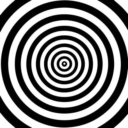 Beweging lijnen illusie. Abstracte golf met zwarte en witte krommelijnen.