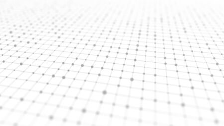 Perspective grid background. Abstract wireframe landscape. Abstract mesh background. 3d rendering.