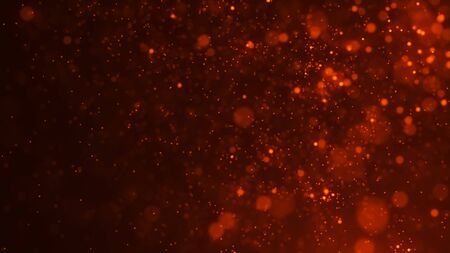 Dust particles. Abstract background of many particles. Fire flying sparks. 3d rendering.