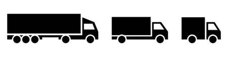 Set of truck icon. Vector symbol on white background. Stock Illustratie