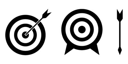Set of vector target icon.