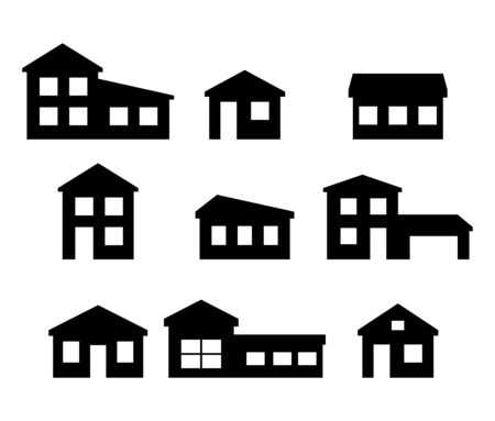 Set of house icons. Vector collection on white background. Vectores