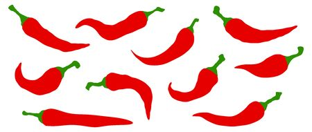 Vector chili hot peppers icon.