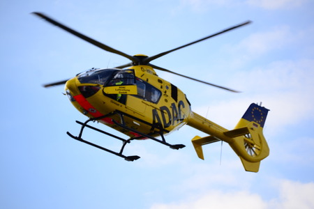 ambulance helicopter in the sky