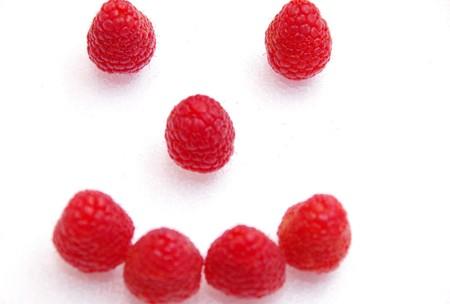 smiley: Raspberry smiley smiling