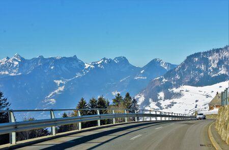 Asphalt road high in the mountains Reklamní fotografie