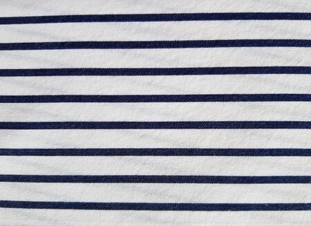 White material with dark blue horizontal stripes for the