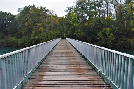 Bridge over the river to the forest