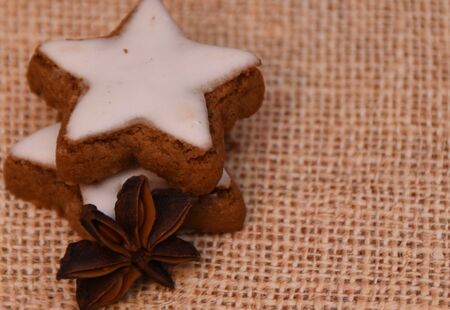 Christmas cookies with cinnamon and anise star