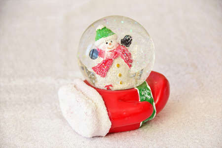 decorative christmas glass ball with a snowman inside