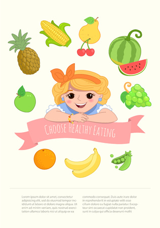 watermelon woman: Pretty Girl with Healthy Food