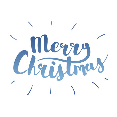 picasso: Brush lettering that says Merry Christmas. Vector. Illustration
