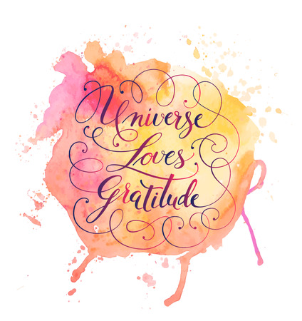 Hand-drawn calligraphy lettering on a watercolor background. Motivational, inspirational phrase