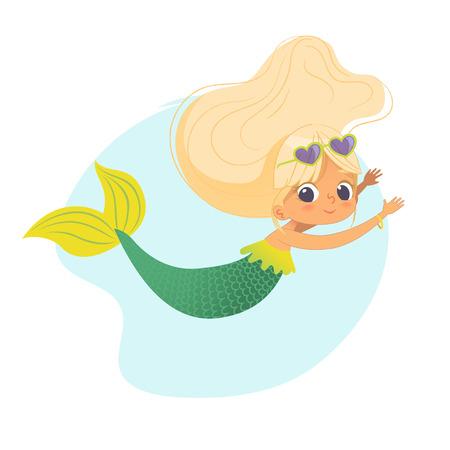 Mermaid Beautiful Girl Sea Character Art Design Banque d'images - 120403947