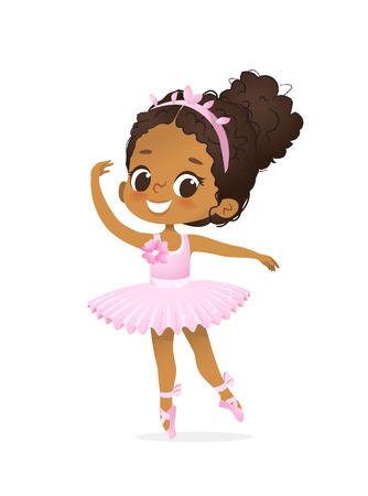 African American Ballerina Child Dance Pink Tutu