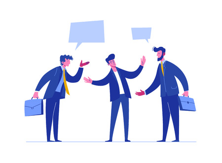 People Discussion Solve Relationship Conflict. Business Risk Time. Person Arguing Different Problem. Team Confrontation Competitor. Concept Stress Resolution Flat Cartoon Vector Illustration 免版税图像 - 124003950