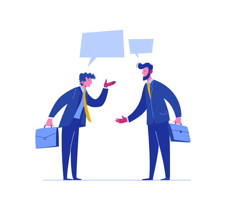 Businessman Conflict Complete Investor Portfolio. Confrontation People Relationship. Concept Business Solution. Different Legal Argument. Dispute Stress Problem Flat Cartoon Vector Illustration