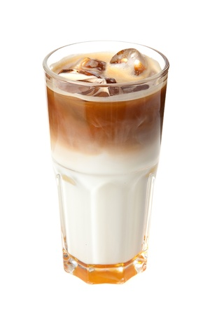 coffee cocktail with milk and ice  Stock Photo