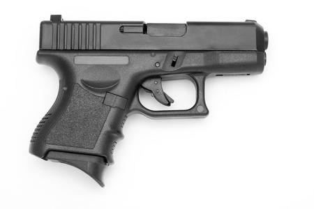 Black gun isoliert auf weißem Hintergrund