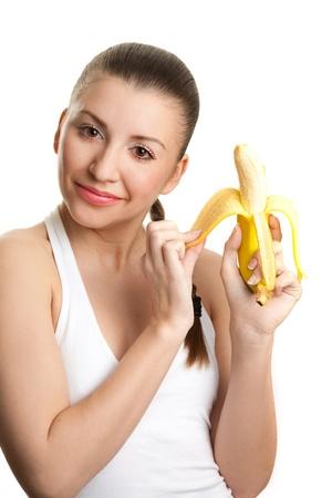 Beautiful girl with  banana Stock Photo - 17423559