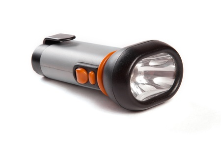grey torch with orange buttons over white background