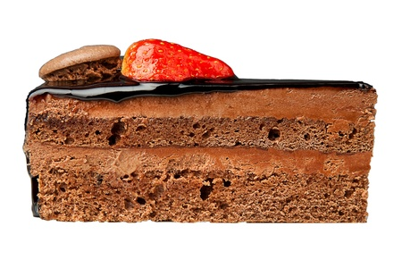 srawberry: chocolate  cake with black sauce and srawberry on top
