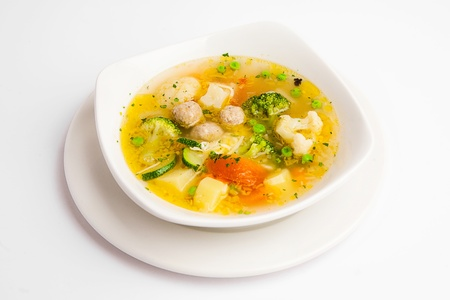 soup with broccoli and meat Stock Photo - 17808006