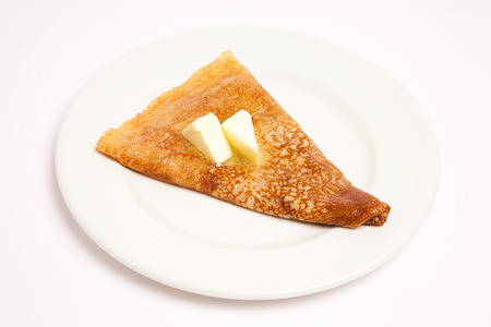pancake with butter  Stock Photo