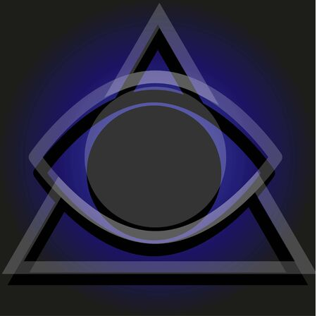 Vector simple illuminati sign on the gradient background Ilustración de vector