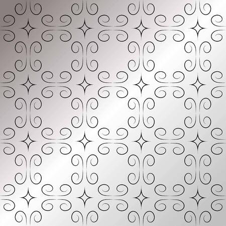 simple openwork pattern on a silver background Illusztráció