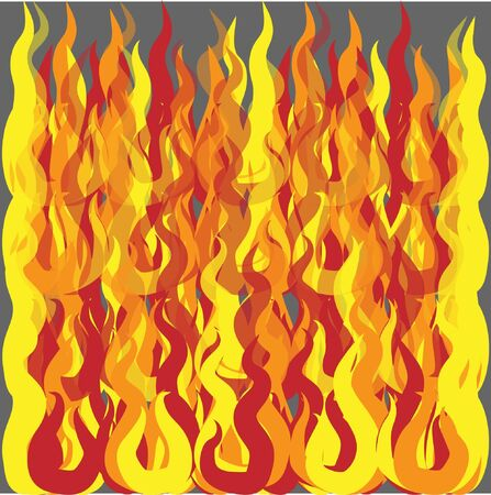 vector fire on a gray background 일러스트