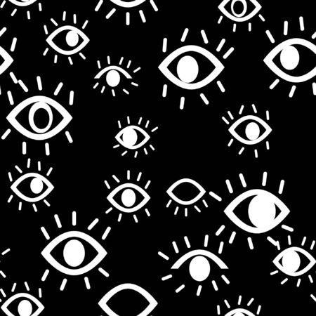vector seamless pattern with third eye