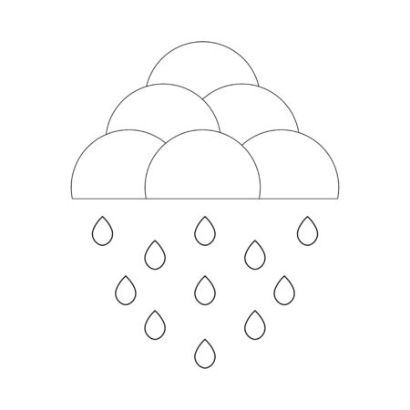 simple vector weather icon on a white background Ilustracja