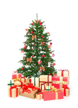 dacorated: Isolated Christmas tree on white