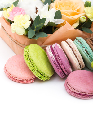 minty: Set of various pastel colored macaroon and gift boxes