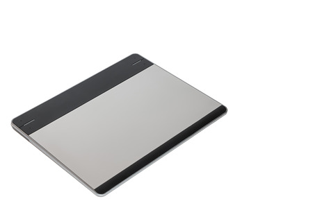 illustrators: Top view of graphic tablet for illustrators and designers, isolated on white background.