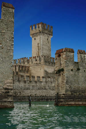 sirmione: Old castle on the lake Garda, Sirmione, Italy