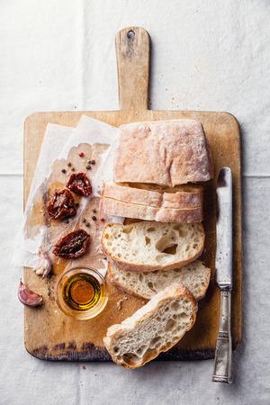 crusty: Crusty bread ciabatta with Sun dried tomatoes