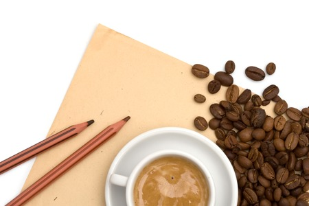 Coffee grunge paper background photo